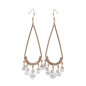 Rose gold pendant beads earrings